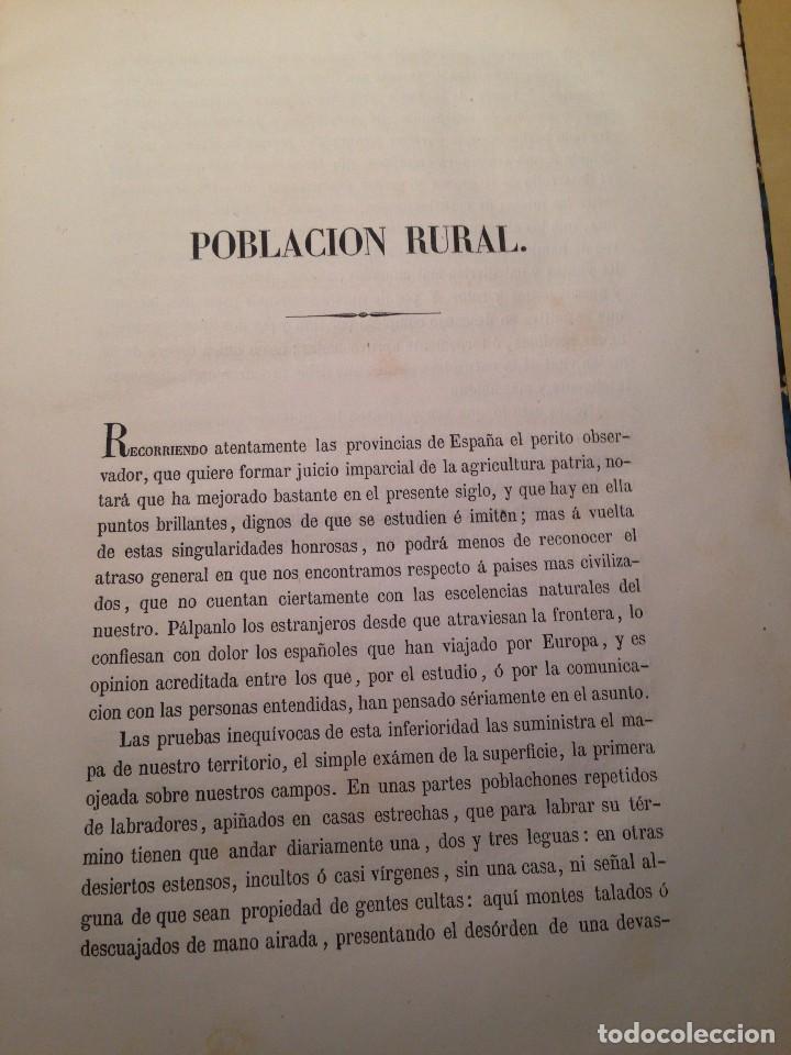 Libros antiguos: MEMORIA SOBRE EL FOMENTO DE LA POBLACION RURAL, FERMIN CABALLERO - Foto 3 - 66164914