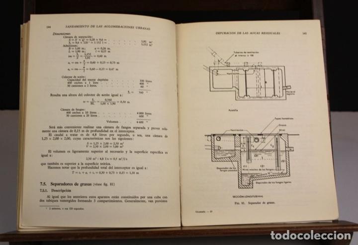 Libros antiguos: 8169 - SANEAMIENTO DE LAS AGLOMERACIONES URBANAS. GUERRÉE. EDIT. REVERTÉ. 1962. - Foto 3 - 66317014