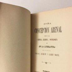 Libros antiguos: DOÑA CONCEPCIÓN ARENAL EN LA CIENCIA JURIÍDICA, SOCIOLÓGICA Y... (1894) SALILLAS, AZCÁRATE, SÁNCHEZ . Lote 71149753