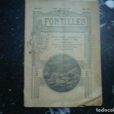 Libros antiguos: FONTILLES REVISTA MENSUAL AÑO XXV---NUM 293 1930 PEGO. Lote 89519084