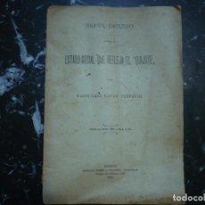 Libros antiguos: BREVE ESTUDIO ESTADO SOCIAL QUE REFLEJA EL QUIJOTE RAIMUNDO CASAS 1906 MADRID. Lote 95850679