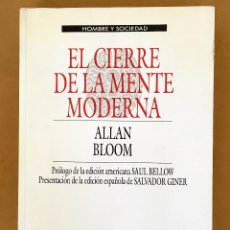 Libros antiguos: ALLAN BLOOM: EL CIERRE DE LA MENTE MODERNA . Lote 109761455