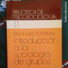 Libros antiguos: INTRODUCCIÓN A LA SOCIOLOGÍA DE GRUPOS.HISTORIA.TEORÍAS.ANÁLISIS BERNHARD SCHÄFERS. ED. HERDER. 1984. Lote 97645003