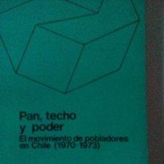 Libros antiguos: PAN, TECHO Y PODER.E. PASTRANA - M. THRELFALL ED. SIAP-PLANTEOS BUENOS AIRES 1974 1ª EDICIÓN. Lote 97875383
