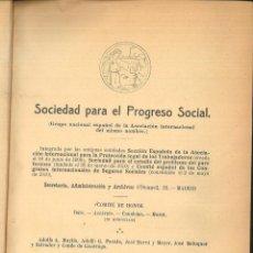 Libros antiguos: SOCIEDAD PARA EL PROGRESO SOCIAL. PUBLICACIONES.. Lote 100751483
