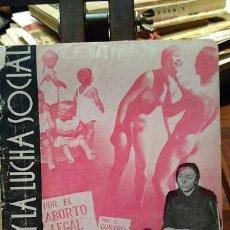 Libros antiguos: V. CALVERTON: EL SEXO Y LA LUCHA SOCIAL. FOTOMONTAJE EN LA CUBIERTA DE JOSÉ/JOSEP RENAU. Lote 101008979