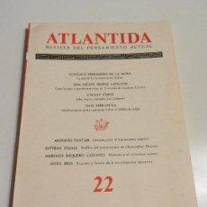 Libros antiguos: ATLANTIDA REVISTA DEL PENSAMIENTO ACTUAL 19 JULIO AGOSTO 1966. TOMO IV . Lote 105577979