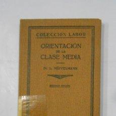 Libros antiguos: ORIENTACIÓN DE LA CLASE MEDIA. MÜFFELMANN, LEO. EDITORIAL COLECCION LABOR. 1931. TDK335. Lote 113321291