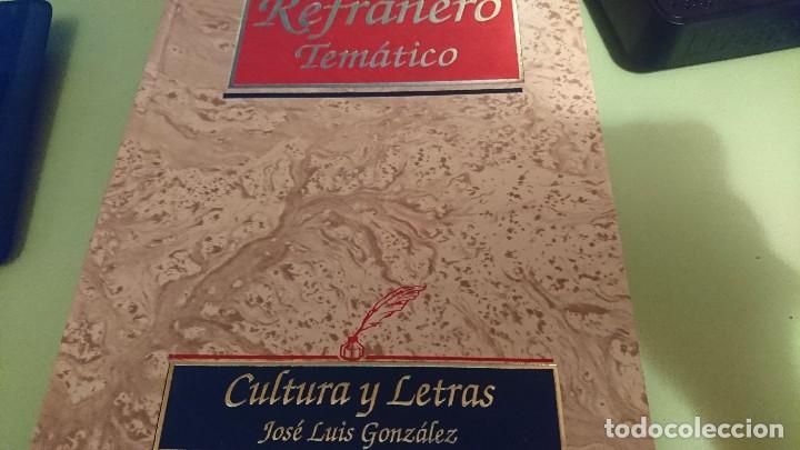 REFRANERO TEMATICO (Libros Antiguos, Raros y Curiosos - Pensamiento - Sociología)