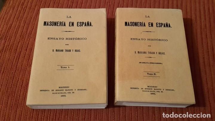LA MASONERIA EN ESPANA: ENSAYO HISTORICO 2 VOLUMEES, FACSIMIL (Libros Antiguos, Raros y Curiosos - Pensamiento - Sociología)