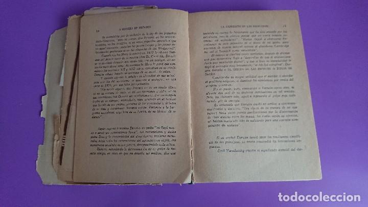 Libros antiguos: CARLOS DARWIN: LA EXPRESIÓN DE LAS EMOCIONES EN EL HOMBRE Y EN LOS ANIMALES - Foto 4 - 122988811
