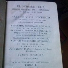 Libros antiguos: TOMOS I Y III EL HOMBRE FELIZ, INDEPENDIENTE DEL MUNDO 1786. Lote 127745923