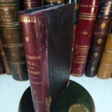 Libros antiguos: IDEAL DE LA HUMANIDAD PARA LA VIDA - CON INSTRUCCIONES Y COMENTARIOS - C. CHR. F. KRAUSE -1871 -. Lote 129645055