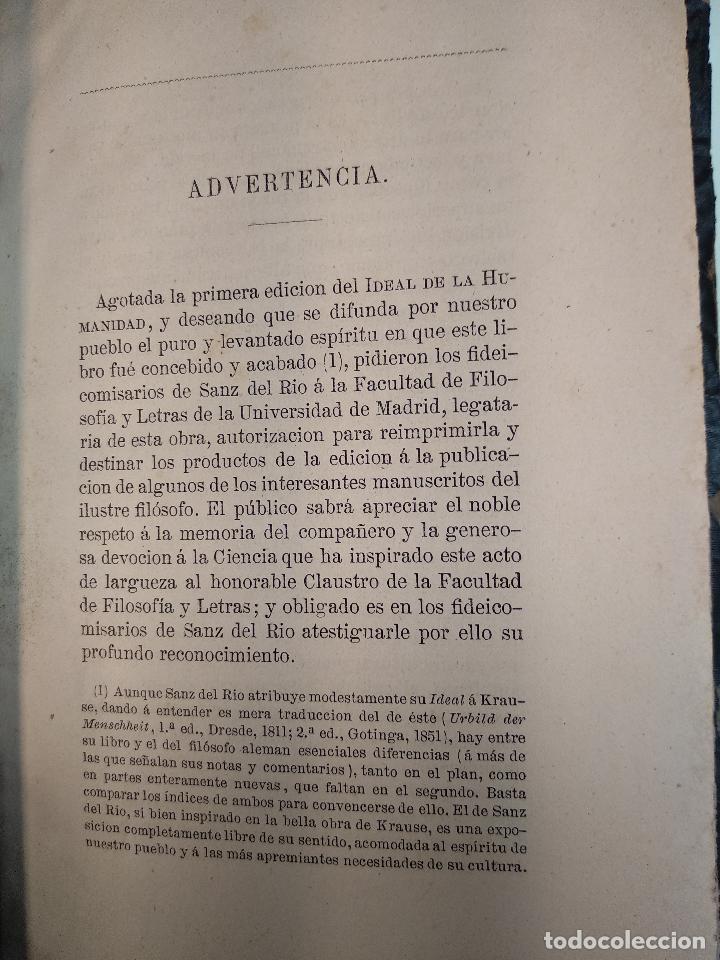 Libros antiguos: IDEAL DE LA HUMANIDAD PARA LA VIDA - CON INSTRUCCIONES Y COMENTARIOS - C. CHR. F. KRAUSE -1871 - - Foto 5 - 129645055