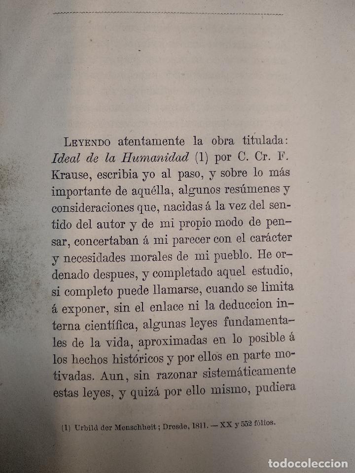 Libros antiguos: IDEAL DE LA HUMANIDAD PARA LA VIDA - CON INSTRUCCIONES Y COMENTARIOS - C. CHR. F. KRAUSE -1871 - - Foto 7 - 129645055
