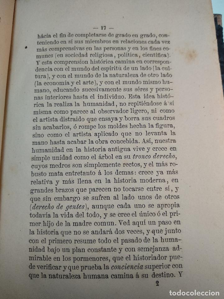 Libros antiguos: IDEAL DE LA HUMANIDAD PARA LA VIDA - CON INSTRUCCIONES Y COMENTARIOS - C. CHR. F. KRAUSE -1871 - - Foto 9 - 129645055