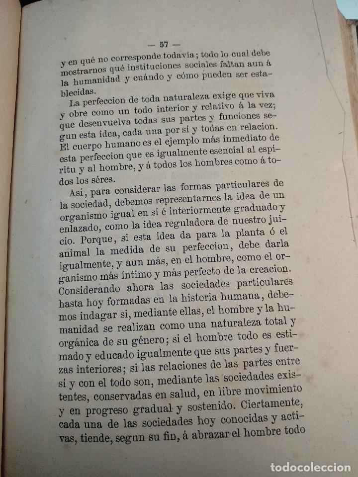Libros antiguos: IDEAL DE LA HUMANIDAD PARA LA VIDA - CON INSTRUCCIONES Y COMENTARIOS - C. CHR. F. KRAUSE -1871 - - Foto 10 - 129645055