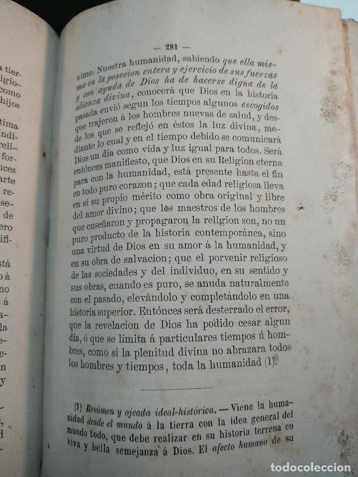 Libros antiguos: IDEAL DE LA HUMANIDAD PARA LA VIDA - CON INSTRUCCIONES Y COMENTARIOS - C. CHR. F. KRAUSE -1871 - - Foto 12 - 129645055