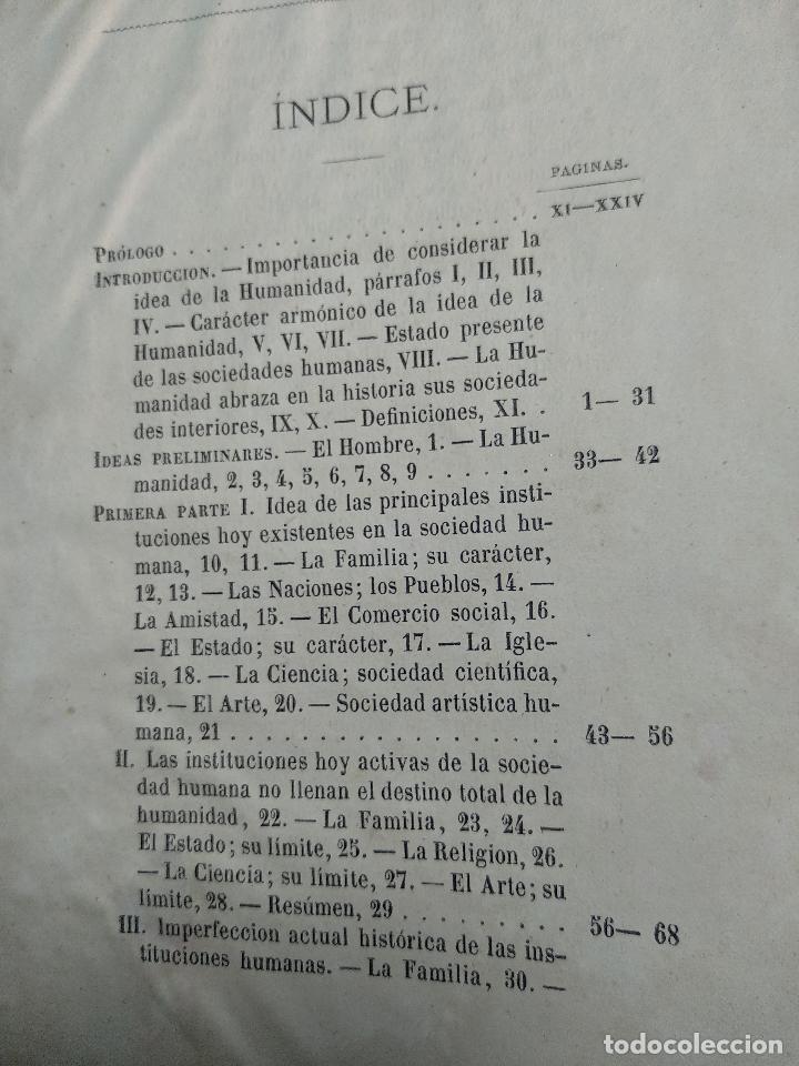 Libros antiguos: IDEAL DE LA HUMANIDAD PARA LA VIDA - CON INSTRUCCIONES Y COMENTARIOS - C. CHR. F. KRAUSE -1871 - - Foto 13 - 129645055