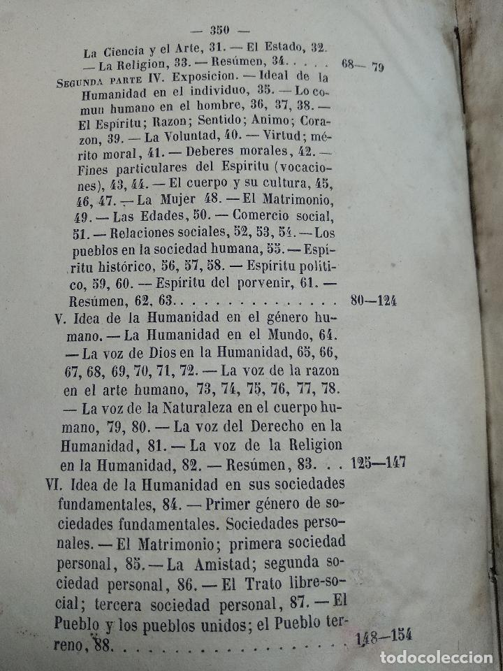Libros antiguos: IDEAL DE LA HUMANIDAD PARA LA VIDA - CON INSTRUCCIONES Y COMENTARIOS - C. CHR. F. KRAUSE -1871 - - Foto 14 - 129645055