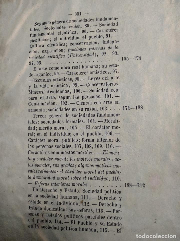 Libros antiguos: IDEAL DE LA HUMANIDAD PARA LA VIDA - CON INSTRUCCIONES Y COMENTARIOS - C. CHR. F. KRAUSE -1871 - - Foto 15 - 129645055