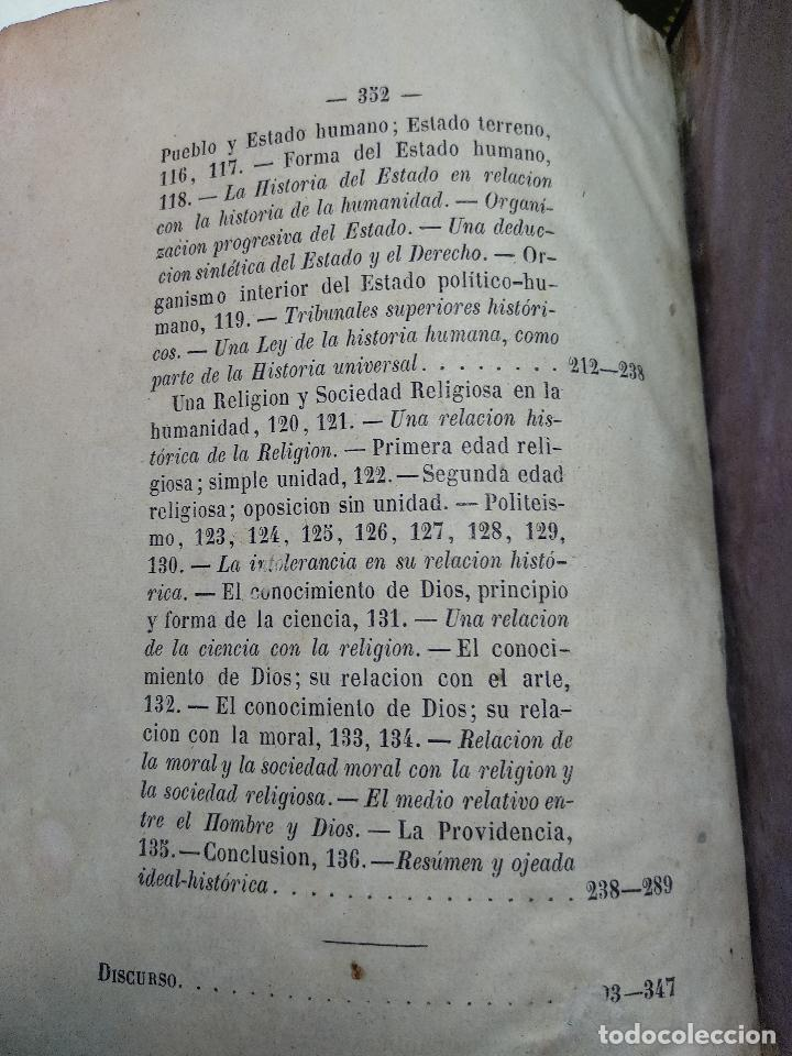 Libros antiguos: IDEAL DE LA HUMANIDAD PARA LA VIDA - CON INSTRUCCIONES Y COMENTARIOS - C. CHR. F. KRAUSE -1871 - - Foto 16 - 129645055
