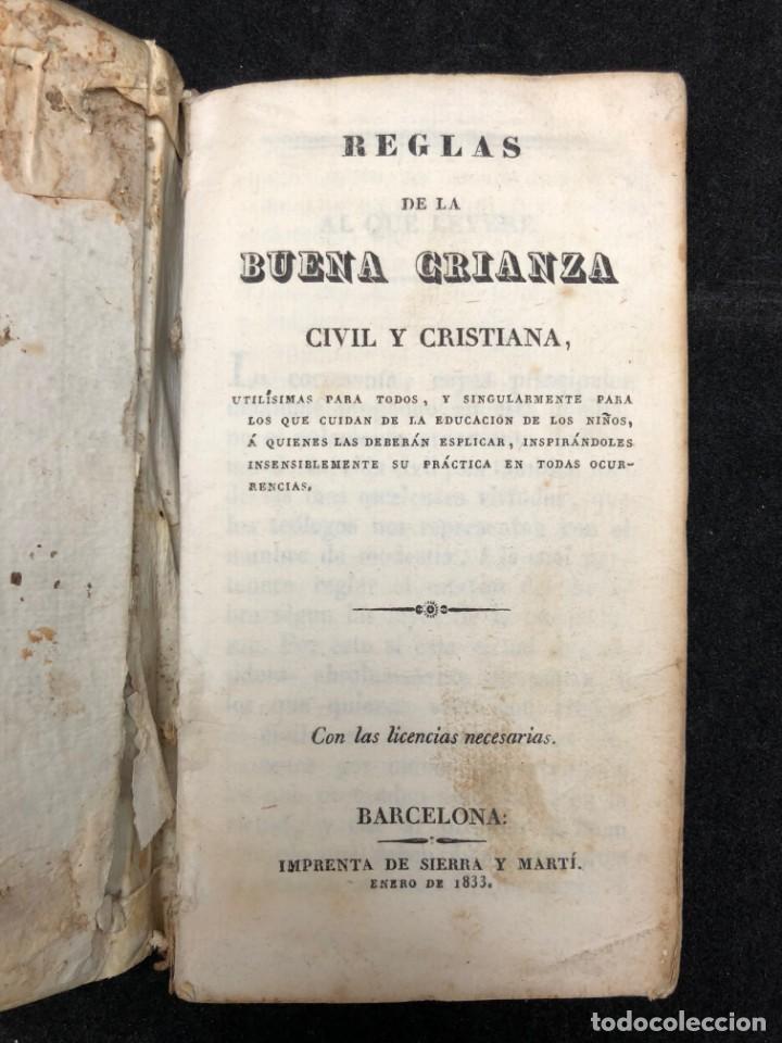 REGLAS DE LA BUENA CRIANZA CIVIL Y CRISTIANA. 1833 (Libros Antiguos, Raros y Curiosos - Pensamiento - Sociología)