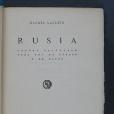Libros antiguos: RUSIA. ESPEJO SALUDABLE PARA USO DE POBRES Y DE RICOS. RAFAEL CALLEJA . Lote 133845466
