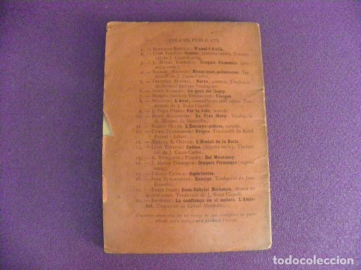Libros antiguos: Edición de 100 La confiança en sí mateix - L'Amistat R W Emerson. Biblioteca Popular L'Avenç Catalán - Foto 3 - 135424550