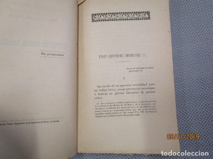Libros antiguos: ESTUDIOS SOBRE GALICIA - LEANDRO SARALEGUI Y MEDINA - LA CORUÑA, EDI ANDRES MARTINEZ 1888 + INFO - Foto 2 - 135539562