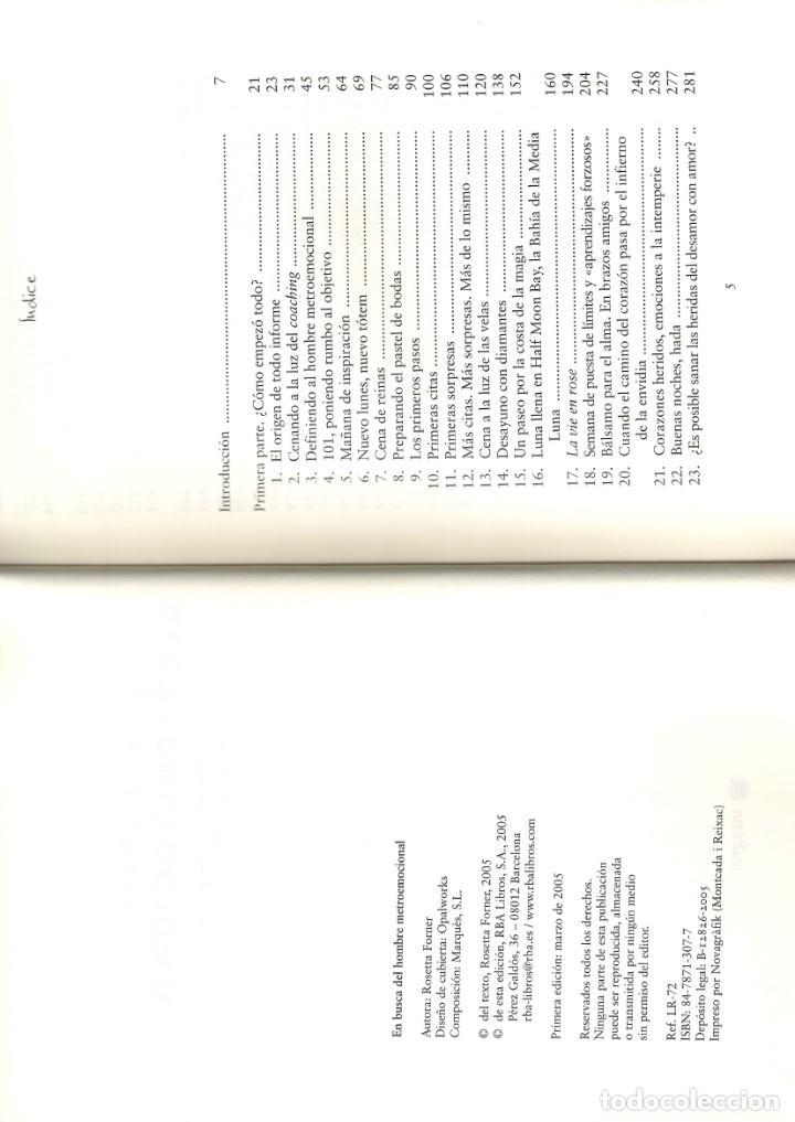 Libros antiguos: ROSETTA FORNER - EN BUSCA DEL HOMBRE METROEMOCIONAL - Foto 4 - 138705086