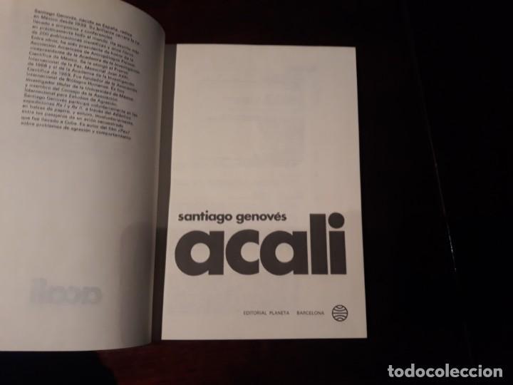 Libros antiguos: ACALI -SANTIAGO GENOVÉS - ESPEJO DEL MUNDO Nº 6 - Foto 2 - 146956246
