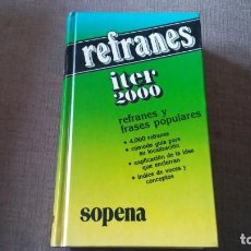 Libros antiguos: REFRANES Y FRASES POPULARES. Lote 151921154
