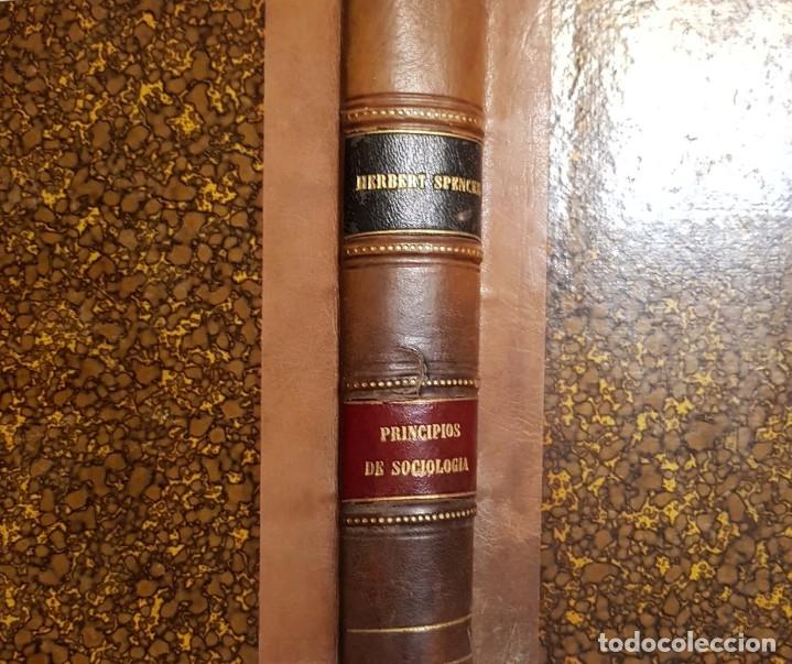 Libros antiguos: Herbert Spencer. Principios de Sociología. 2 tomos, un volumen. Madrid, 1883 - Foto 2 - 151977162