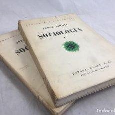 Libros antiguos: SOCIOLOGÍA JORGE SIMMEL 2 TOMOS 1939 ESPASA CALPE BUEN ESTADO. RÚSTICA ORIGINAL. Lote 152920502