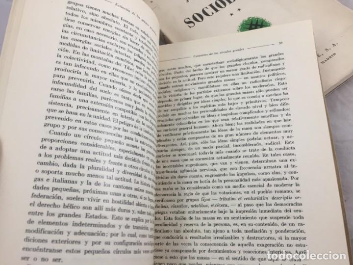 Libros antiguos: Sociología Jorge Simmel 2 tomos 1939 Espasa Calpe buen estado. Rústica original - Foto 5 - 152920502