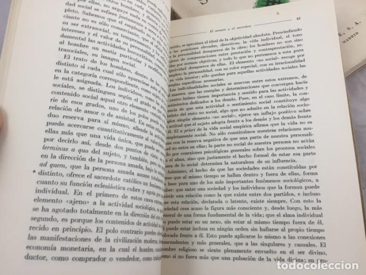 Libros antiguos: Sociología Jorge Simmel 2 tomos 1939 Espasa Calpe buen estado. Rústica original - Foto 6 - 152920502
