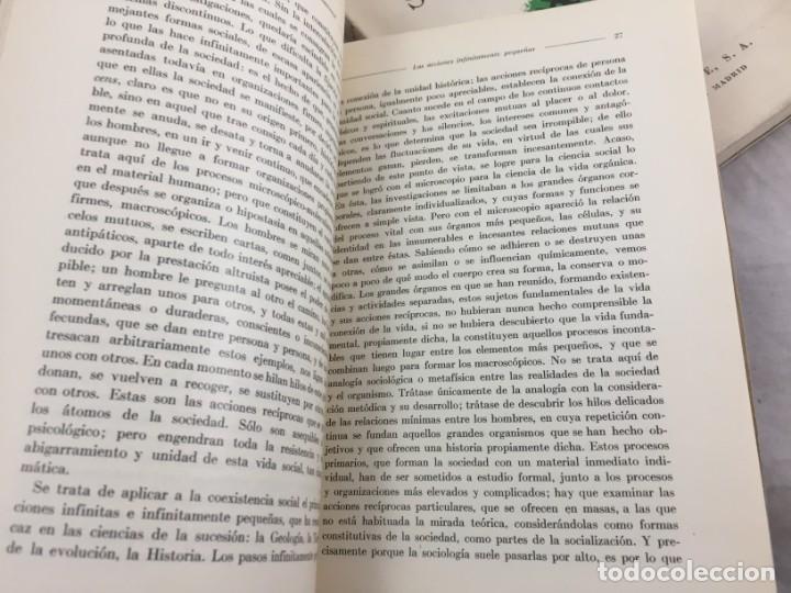 Libros antiguos: Sociología Jorge Simmel 2 tomos 1939 Espasa Calpe buen estado. Rústica original - Foto 7 - 152920502