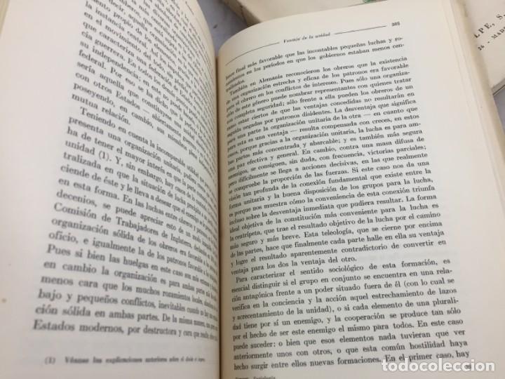 Libros antiguos: Sociología Jorge Simmel 2 tomos 1939 Espasa Calpe buen estado. Rústica original - Foto 8 - 152920502