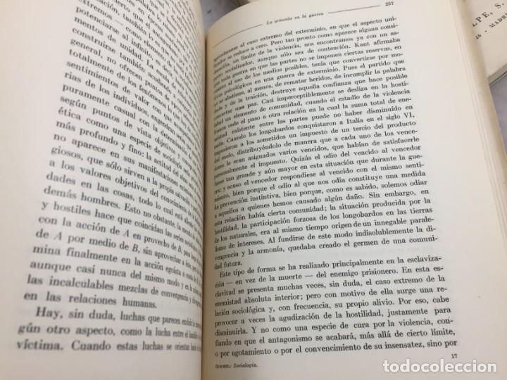 Libros antiguos: Sociología Jorge Simmel 2 tomos 1939 Espasa Calpe buen estado. Rústica original - Foto 9 - 152920502