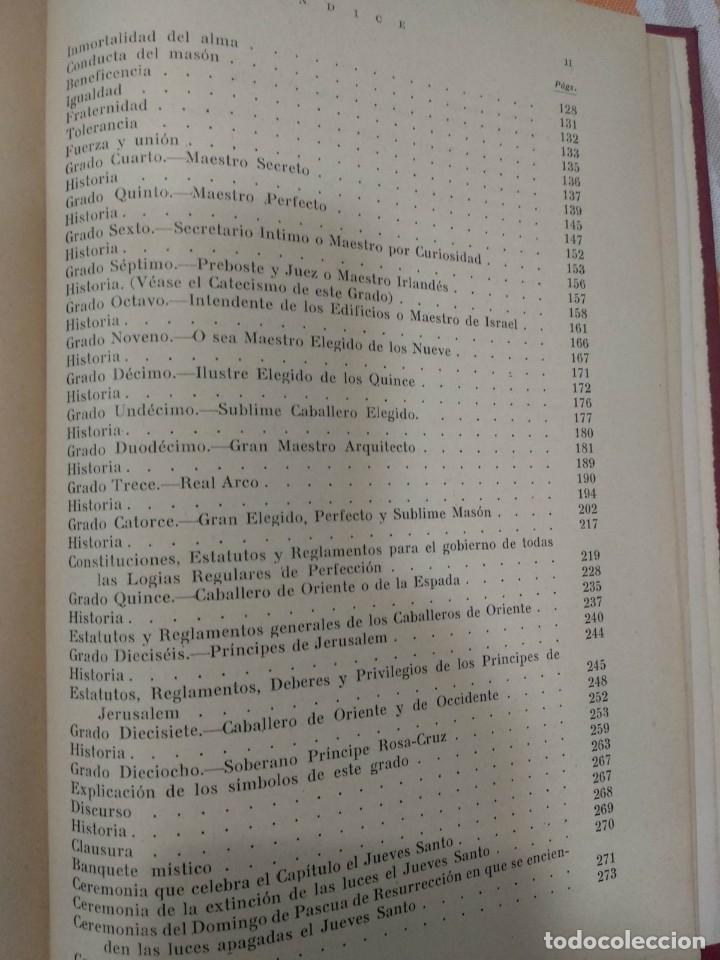 Libros antiguos: CASSARD , ANDRES - MANUAL DE LA MASONERIA EL TEJADOR DE LOS RITOS ANTIGUOS ESCOCES, FRANCES Y DE ADO - Foto 11 - 157966630