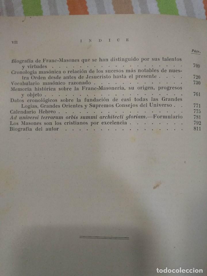 Libros antiguos: CASSARD , ANDRES - MANUAL DE LA MASONERIA EL TEJADOR DE LOS RITOS ANTIGUOS ESCOCES, FRANCES Y DE ADO - Foto 16 - 157966630