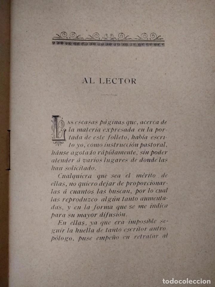Libros antiguos: Determinismo La antropología criminal jurídica. Tomás de la Cámara y Castro Obispo de Salamanca 1897 - Foto 2 - 159219710