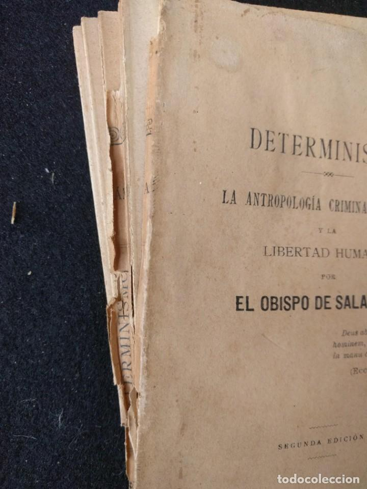 Libros antiguos: Determinismo La antropología criminal jurídica. Tomás de la Cámara y Castro Obispo de Salamanca 1897 - Foto 4 - 159219710