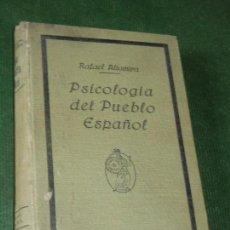 Livros antigos: PSICOLOGIA DEL PUEBLO ESPAÑOL, DE RAFAEL ALTAMIRA - ED.MINERVA 2A.ED. C1917. Lote 160681506
