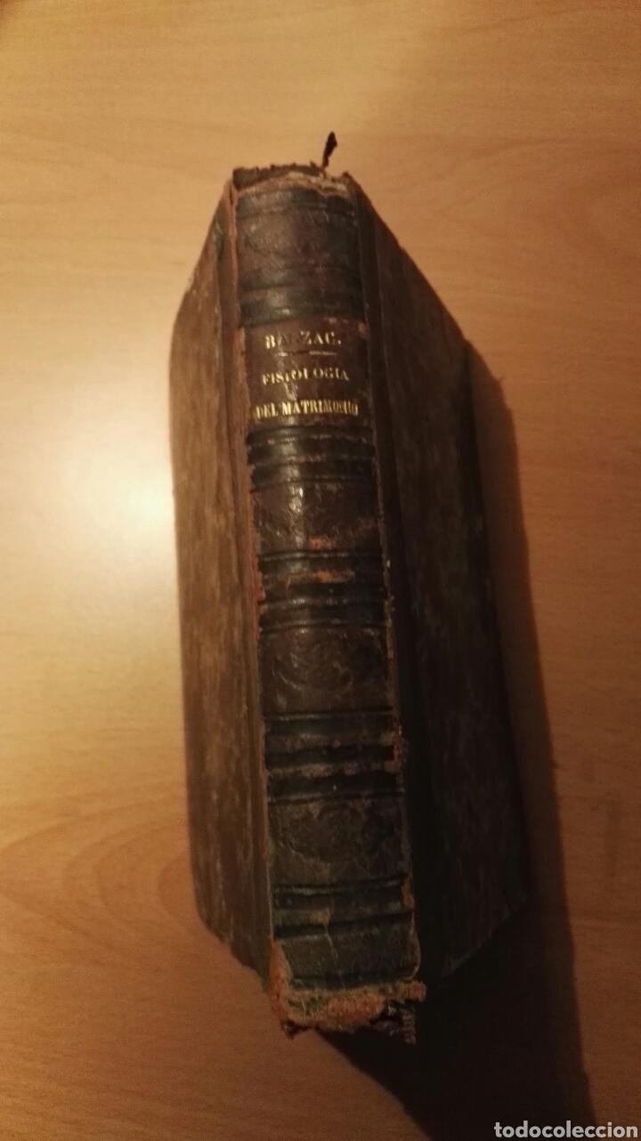 BALZAC. FISIOLOGIA DEL MATRIMONIO. 1867 (Libros Antiguos, Raros y Curiosos - Pensamiento - Sociología)