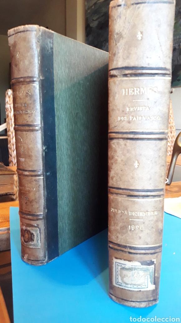 HERMES REVISTA DEL PAIS VASCO 1920 (2 TOMOS) (Libros Antiguos, Raros y Curiosos - Pensamiento - Sociología)