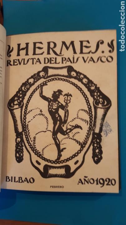 Libros antiguos: HERMES REVISTA DEL PAIS VASCO 1920 (2 TOMOS) - Foto 2 - 166633061