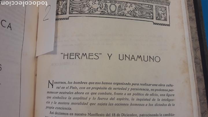 Libros antiguos: HERMES REVISTA DEL PAIS VASCO 1920 (2 TOMOS) - Foto 9 - 166633061