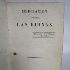 Libros antiguos: MEDITACIÓN SOBRE LAS RUINAS. LONDRES 1818. Lote 168390324